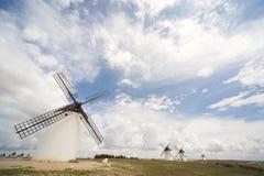 Molinoes de viento, Campo de Criptana, Castile-La Mancha, S imágenes de archivo libres de regalías