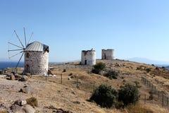Molinoes de viento de Bodrum Foto de archivo libre de regalías