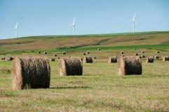 Molinoes de viento de gran alcance en el fondo Imagen de archivo libre de regalías