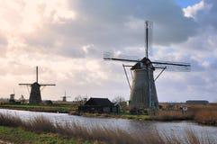 Molinoes de viento de Holanda Fotografía de archivo libre de regalías