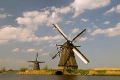 Molinoes de viento de Kinderdijk Fotos de archivo