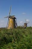 Molinoes de viento de Kinderdjk, Dordrecht, Países Bajos Foto de archivo