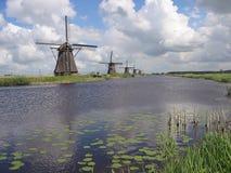 Molinoes de viento de la herencia de Kinderdijk, Países Bajos Imagen de archivo libre de regalías