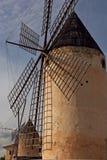 Molinoes de viento de Majorca Fotos de archivo libres de regalías