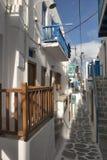Molinoes de viento de Mykonos - Grecia Foto de archivo