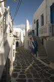 Molinoes de viento de Mykonos - Grecia Imagen de archivo
