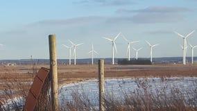 Molinoes de viento de Tantramar imagenes de archivo