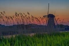 Molinoes de viento del holandés de la herencia de la UNESCO Fotos de archivo