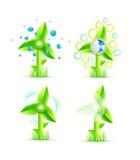Molinoes de viento del vector libre illustration