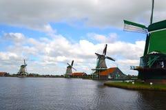 Molinoes de viento en Amsterdam Imágenes de archivo libres de regalías