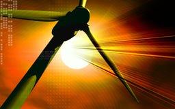 Molinoes de viento en blanco Imagen de archivo libre de regalías