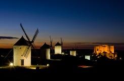 Molinoes de viento en Consuegra Imagen de archivo