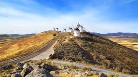 Molinoes de viento en Consuegra Imagen de archivo libre de regalías