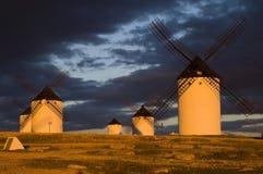 Molinoes de viento en España Foto de archivo