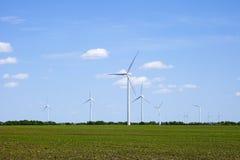 Molinoes de viento en la primavera Fotos de archivo