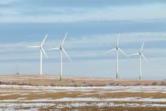 Molinoes de viento en la República Checa Imágenes de archivo libres de regalías