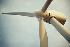 Molinoes de viento en la salida del sol Foto de archivo libre de regalías