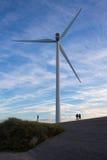 Molinoes de viento en la salida del sol Fotos de archivo libres de regalías