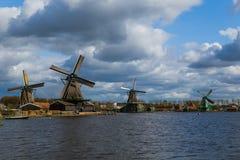 Molinoes de viento en Zaanse Schans - Países Bajos Fotografía de archivo libre de regalías