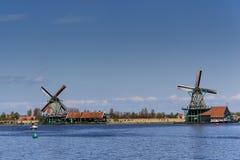 Molinoes de viento en Zaanse Schans - Países Bajos Fotos de archivo libres de regalías