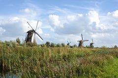 Molinoes de viento holandeses Foto de archivo libre de regalías