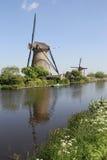 Molinoes de viento holandeses Foto de archivo