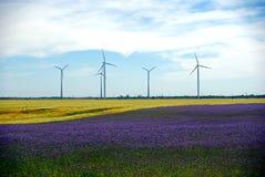 Molinoes de viento, Hungría Fotografía de archivo libre de regalías