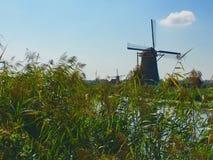 Molinoes de viento; Kinderdijk, Holanda fotos de archivo