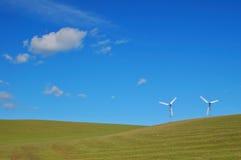 Molinoes de viento modernos imagen de archivo libre de regalías