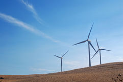 Molinoes de viento modernos de California Fotografía de archivo libre de regalías