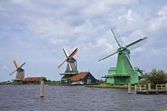 Molinoes de viento, Países Bajos Fotografía de archivo