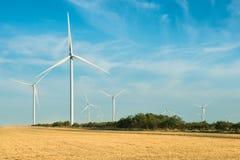 Molinoes de viento para la producción de Electric Power Fotografía de archivo