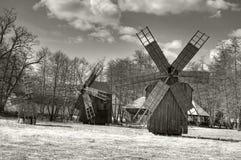 Molinoes de viento tradicionales Imagen de archivo
