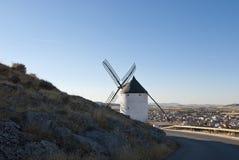 Molinoes de viento tradicionales en España Foto de archivo libre de regalías