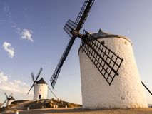 Molinos in Consuegra, Castilla La Mancha, Spain Royalty Free Stock Photos