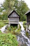 Molinos de agua de madera viejos, Jajce en Bosnia y Herzegovina Fotografía de archivo