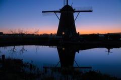 Molinos de Kinderdijk cerca de Rotterdam Imagen de archivo