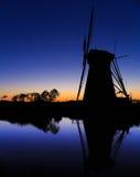 Molinos de Kinderdijk cerca de Rotterdam Imágenes de archivo libres de regalías