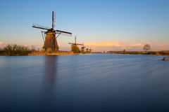 Molinos de Kinderdijk cerca de Rotterdam Fotos de archivo