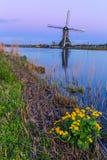 Molinos de Kinderdijk cerca de Rotterdam Foto de archivo