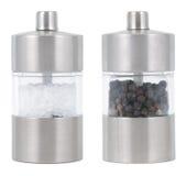 Molinos de la sal y de pimienta Fotografía de archivo