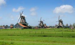 Molinos de viento en Zaanse Schans Imagen de archivo libre de regalías