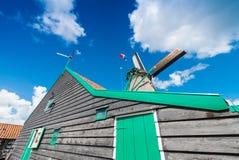 Molinos de viento en Zaanse Schans, Netherland holanda Imagen de archivo