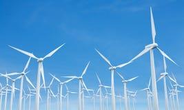Molinos de viento numerosos Fotografía de archivo