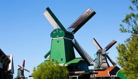 Molinos en Holanda Foto de archivo libre de regalías