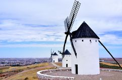 Molinos Engels La Mancha Stock Foto
