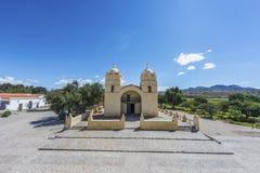 Molinos kyrka på rutt 40 i Salta, Argentina. Fotografering för Bildbyråer
