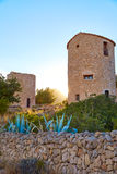 Molins do EL de Javea Xabia no por do sol em Alicante Fotos de Stock