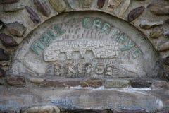 Moll Carthys mosta znaka korek Irlandia zdjęcia stock