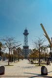 Moll de Barcelona and Jaume I Tower. Stock Photos